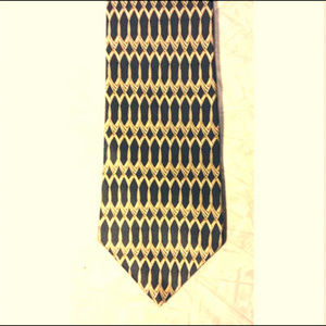 *Zylos George Machado ~ Black Gold Links Silk Tie